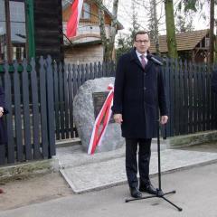 """""""My, Polacy, dzisiaj, na pamięci państwa Lubkiewiczów, na pamięci milionów Polaków, którzy walczyli, cierpieli i ratowali w czasie okrutnej niemieckiej nocy swoich żydowskich sąsiadów, na pamięci wielkiej historii Polski, na tym fundamencie, budujemy wielkie jasne domy, budujemy wielką jasną Polskę"""""""