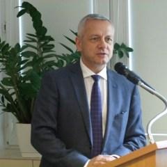 Minister Cyfryzacji Marek Zagórski z wizytą  w Starostwie Wyszkowskim