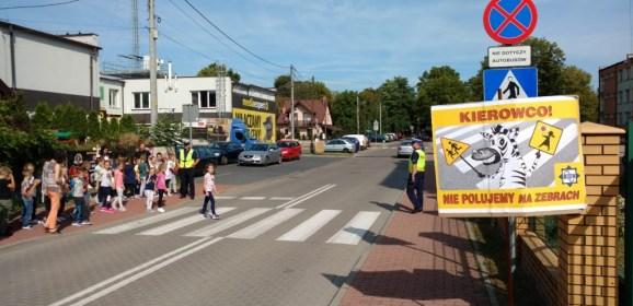 """Kronika KPP w Wołominie – """"Bezpieczna droga do szkoły"""" z węgrowskimi policjantami"""