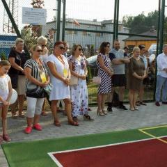 Uroczyste otwarcie boiska i parku rekreacji w Starych Załubicach