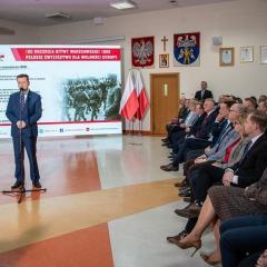 Minister Obrony Narodowej w Wołominie przedstawił program głównych obchodów 100. rocznicy Bitwy Warszawskiej