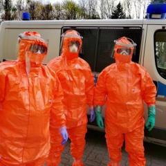 Zarażona koronawirusem zatrzymana przez wyszkowskich policjantów. Decyzją sądu została tymczasowo aresztowana.
