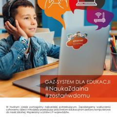 GAZ-SYSTEM przekazał środki finansowe na zakup sprzętu IT do zdalnej nauki gminie Andrzejewo