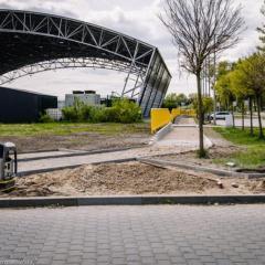 Prace nad ścieżką rowerową przy ul. Trębickiego