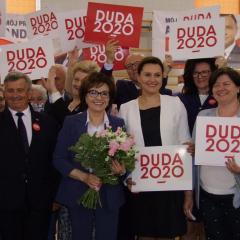 Jak ważne jest, aby w tych wyborach uczestniczyć przekonywała w Wyszkowie Marszałek Sejmu Elżbieta Witek