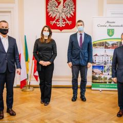 Wiceminister Jarosław Sellin z wizytą w Ostrowi Mazowieckiej