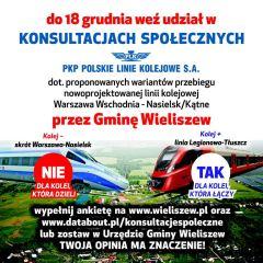 NIE dla kolei, która dzieli. TAK dla kolei, która łączy! – Wraca temat linii kolejowych przez Gminę Wieliszew