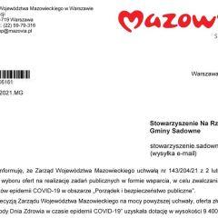 Dofinansowanie na cele publiczne dla przedstawicieli gminy Sadowne