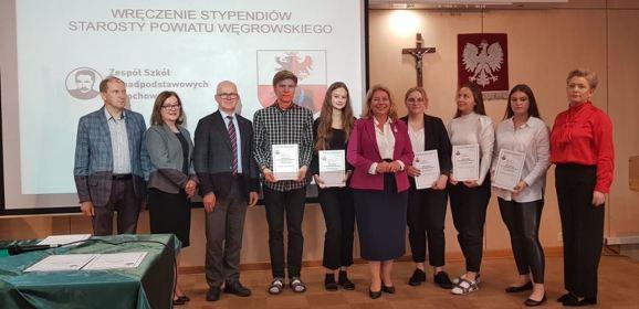Uroczyste wręczenie Stypendiów uczniom szkół powiatu węgrowskiego