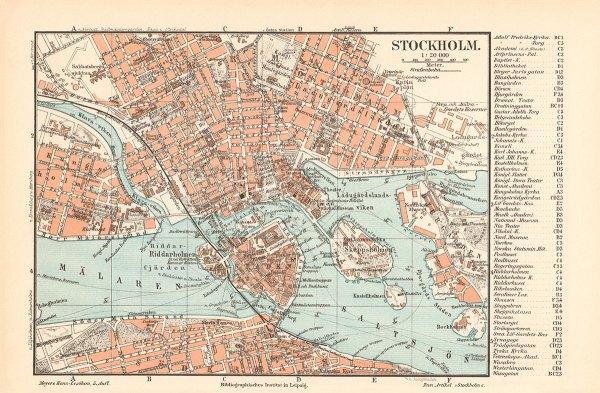 Stockholm kart 1897