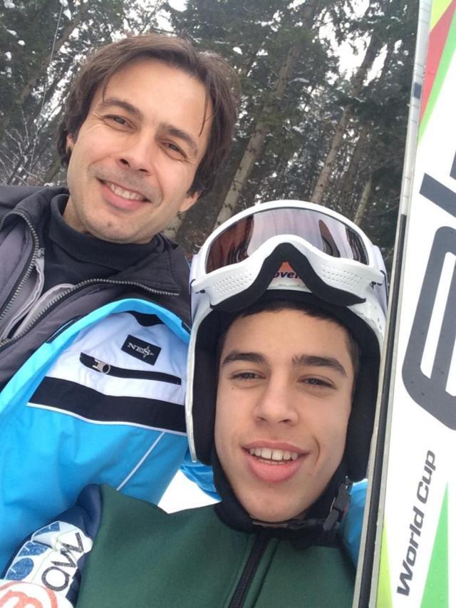 Nikola s ocem Nenadom