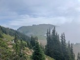 The route toward Banshee peak. The clouds rolled in as I was on my way. I was fortunate to stay out of a whiteout.