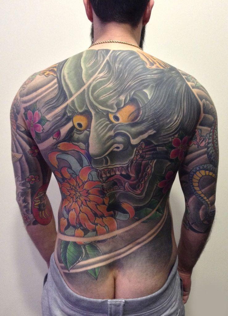 Oriental Kuroneko Tattoo