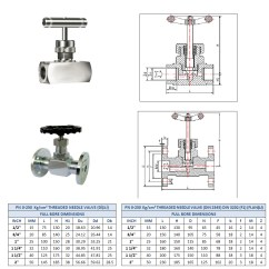 Metric Conversion Diagram Yamaha 350 Warrior Wiring Needle Valves (flanged And Threaded)