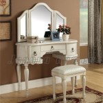 Meja Rias Erica Antique White Vanity Table Classic