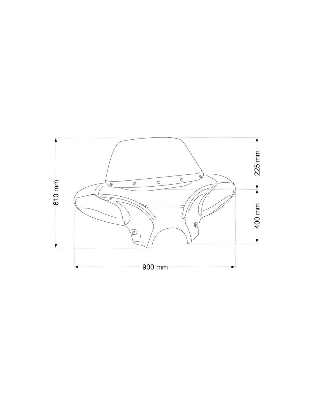 Parabrisas Batwing para Hyosung Aquila GV650