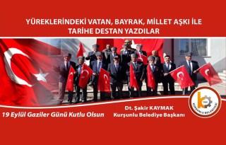 Başkan Şakir Kaymak'dan 19 Eylül Gaziler Günü Mesajı