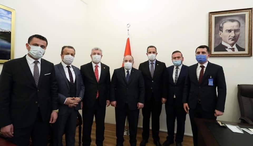 Sanayi ve Teknoloji Bakanı'mız Sn. Mustafa Varank'ı ziyaret