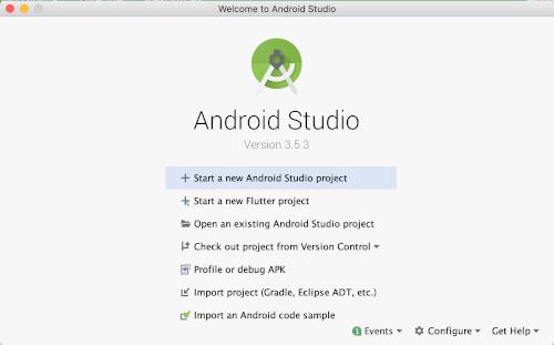 Tutorial Flutter: Menggunakan Aplikasi CRUD REST API Android dan iOS - Selamat Datang di Android Studio