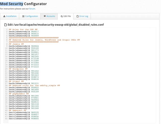 CentOS Web Panel Opencart 403 Forbidden