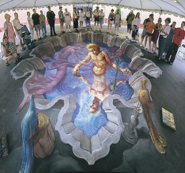 3d Illusion Street Painting Unfinished8