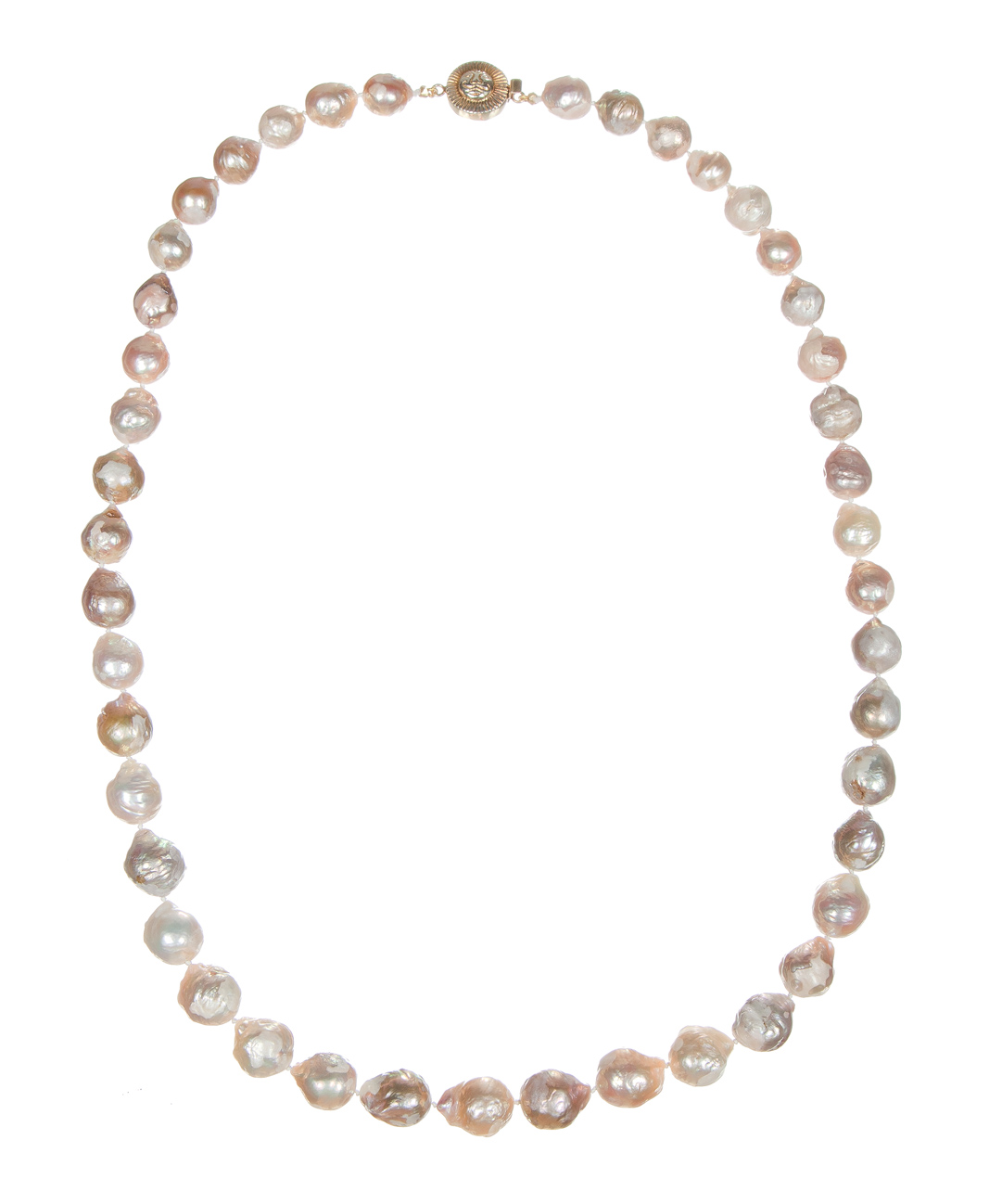 Long Natural Baroque Pearl Necklace
