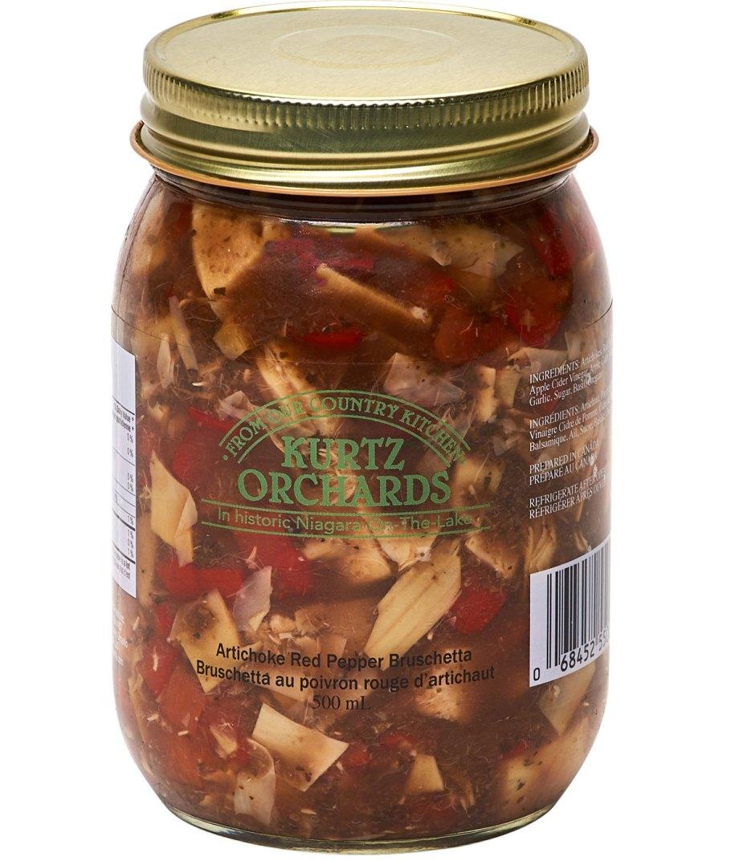 Artichoke Red Pepper Bruschetta