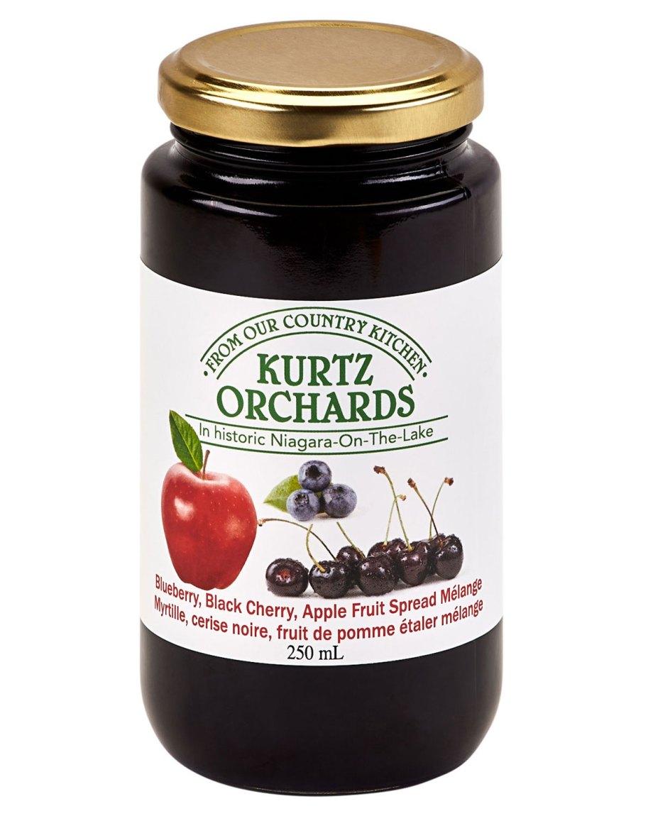 Blueberry, Black Cherry, Apple Fruit Spread Melange