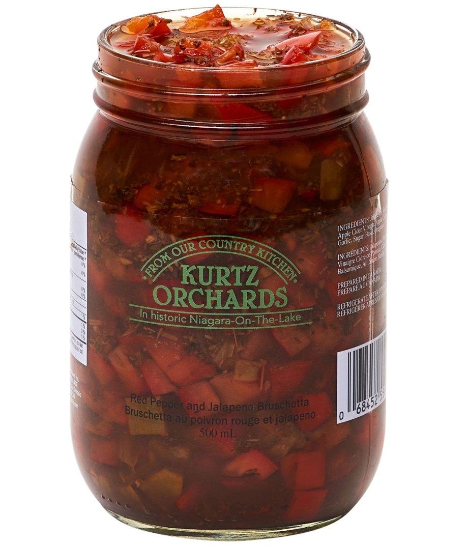 Red Pepper and Jalapeno Bruschetta