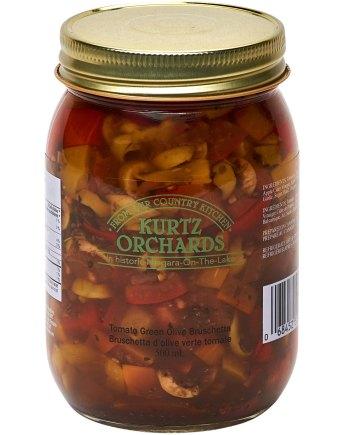 Tomato Green Olive Bruschetta
