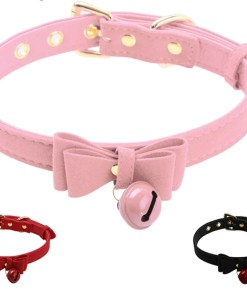 Cute Bow Tie Choker Collar with a Bell