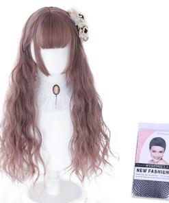 Kawaii Brunette Pink Ombre Lolita Wig