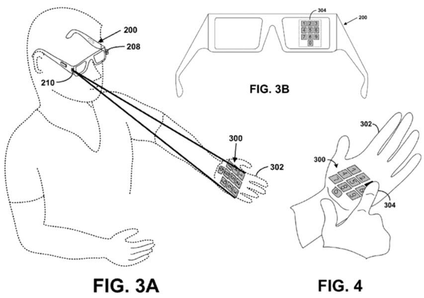 Google Glass patent applications: bone conduction, laser