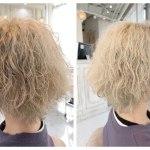 ブリーチハイトーンくせ毛を活かす