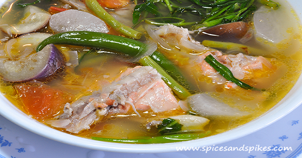 Sinigang Na Ulo Ng Salmon Salmon Fish Head In Sour Soup Recipe Kusina Master Recipes