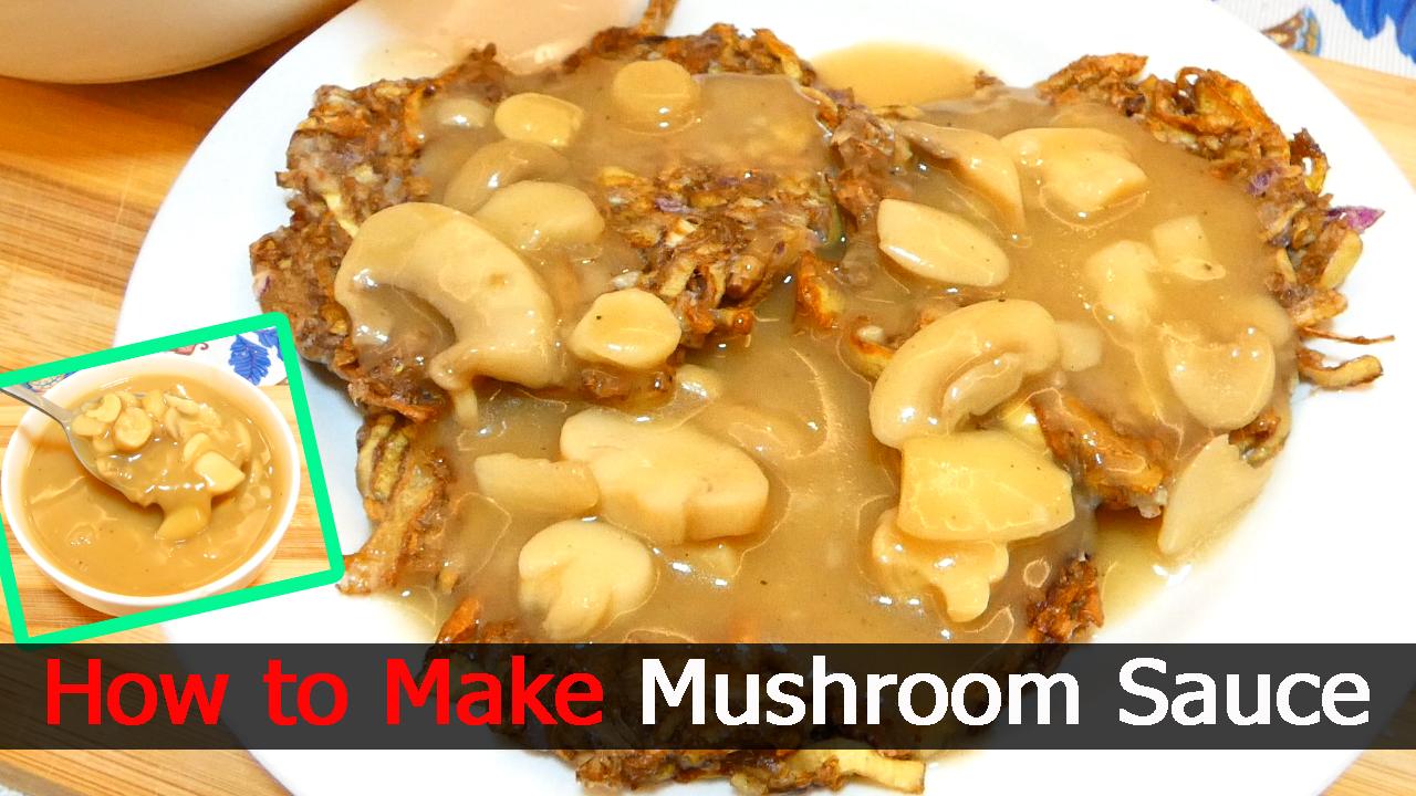 How to Make Mushroom Sauce (Jollibee Style)