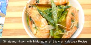 Ginataang Hipon with Malunggay at Sitaw at Kalabasa