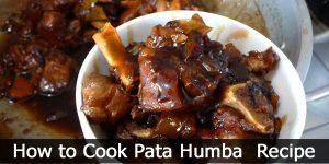 How to Cook Pata Humba Recipe