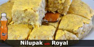 Nilupak na Saging na may Royal Soda at Peanut Butter