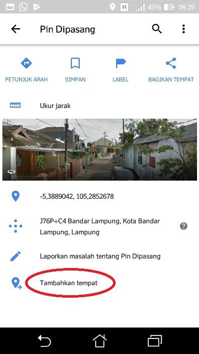 Menambahkan alamat rumah google maps