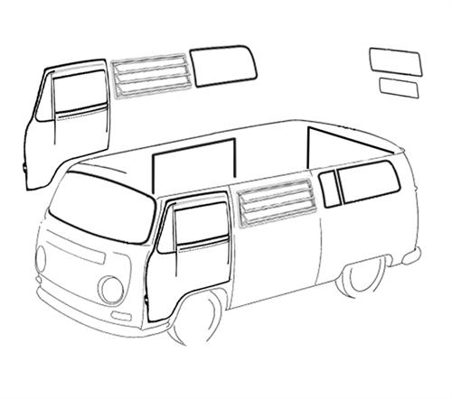 Window and door restoration rubber kits for 1968-1977 VW