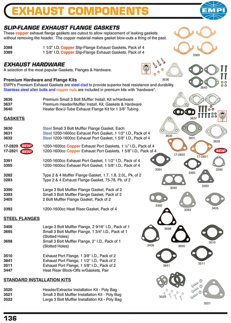 medium resolution of exhaust gaskets copper metal paper steel exhaust flanges for vw volkswagen slip flange exhaust flange gaskets these copper exhaust flange gaskets are