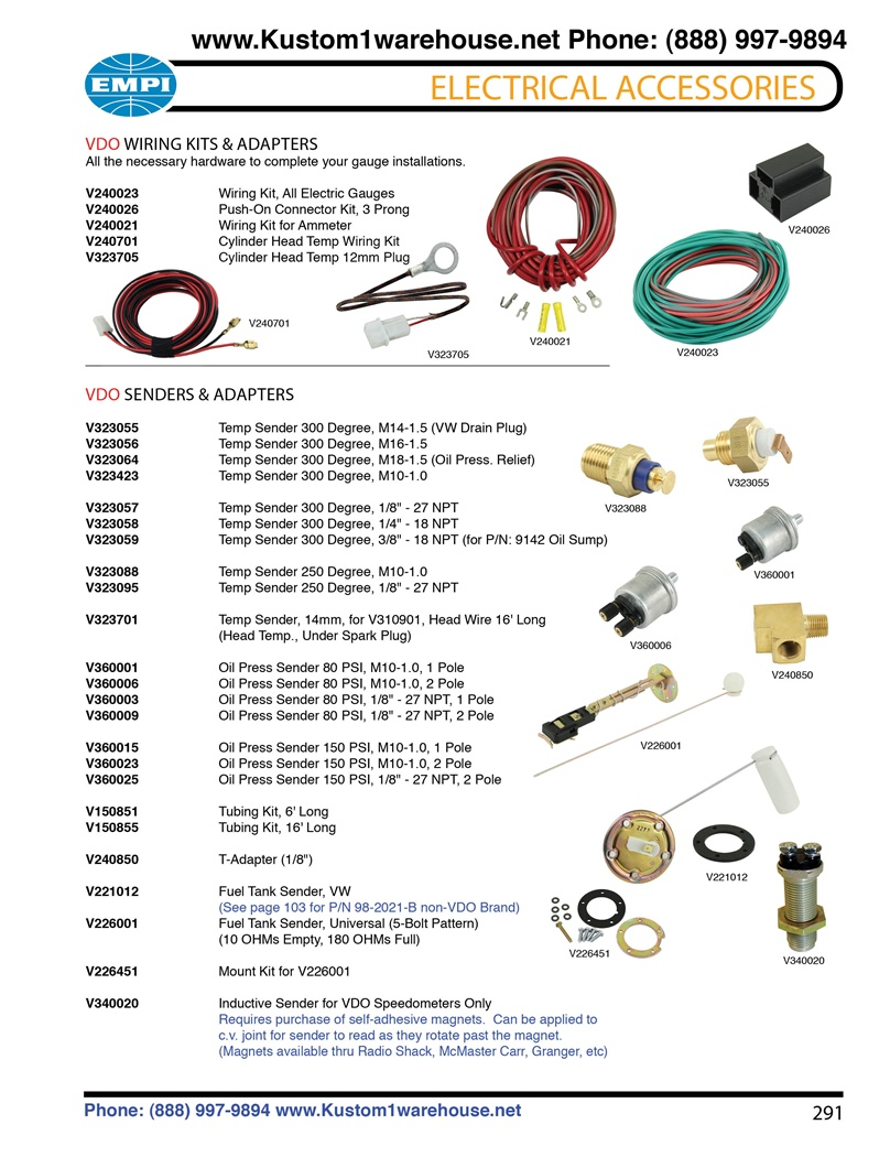 vdo ammeter wiring diagram 49cc parts kits, oil and cylinder head temperature, pressure, fuel sending units t ...