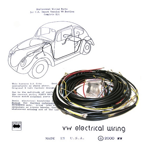 1971 Vw Bus Wiring Harness Wiring Works Wiringworks Vw Bug Replacement Wiring