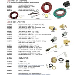 Vdo Oil Pressure Gauge Wiring Diagram Multiple Switch Light Kits, And Cylinder Head Temperature, Pressure, Fuel Sending Units T ...