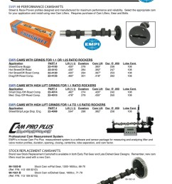engle high performance aftermarket racing camshafts for aircooled vw volkswagen bug beetles and sand rails lift and duration cam specs chart  [ 808 x 1050 Pixel ]