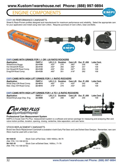 small resolution of engle high performance aftermarket racing camshafts for aircooled vw volkswagen bug beetles and sand rails lift and duration cam specs chart