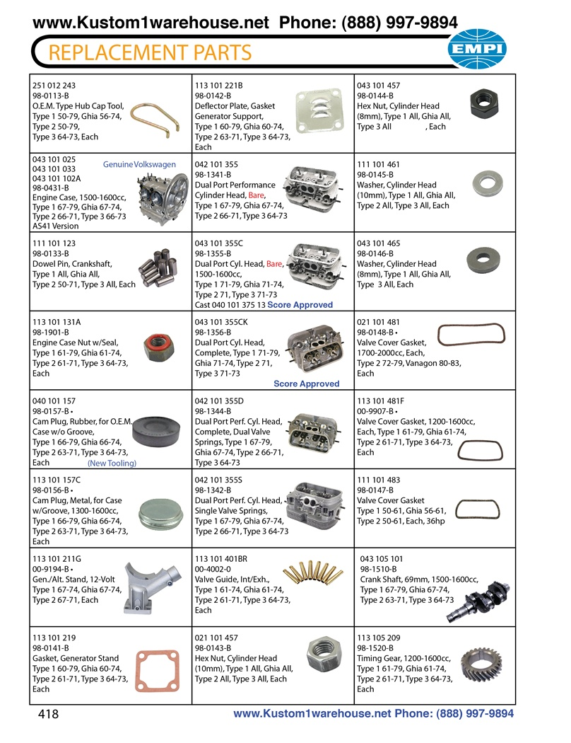 Ghia Wiring Diagram Replacement Engine And Motor Parts Cases Cam Plugs
