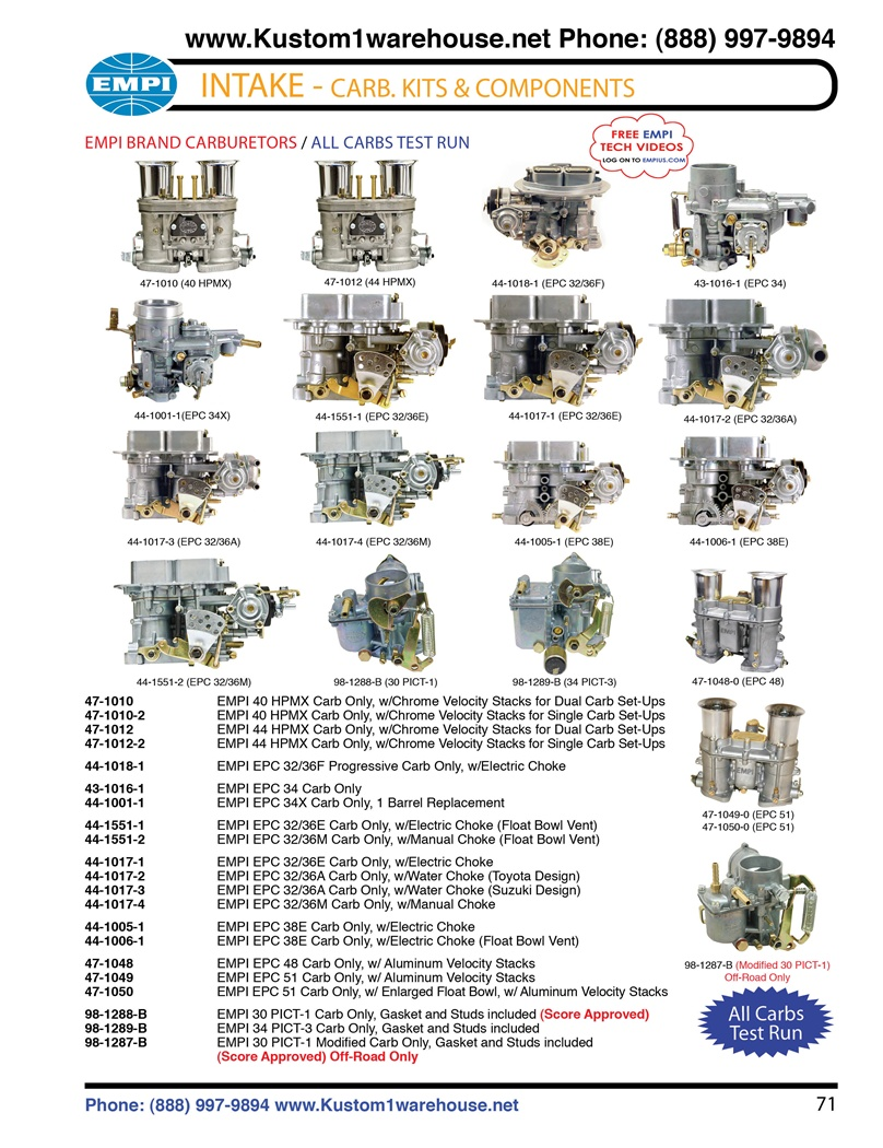 hight resolution of empi carburetors 48mm 51mm epc 40mm 44mm hpmx 32 36 e empi carburetors tuning vw carburetor rebuild