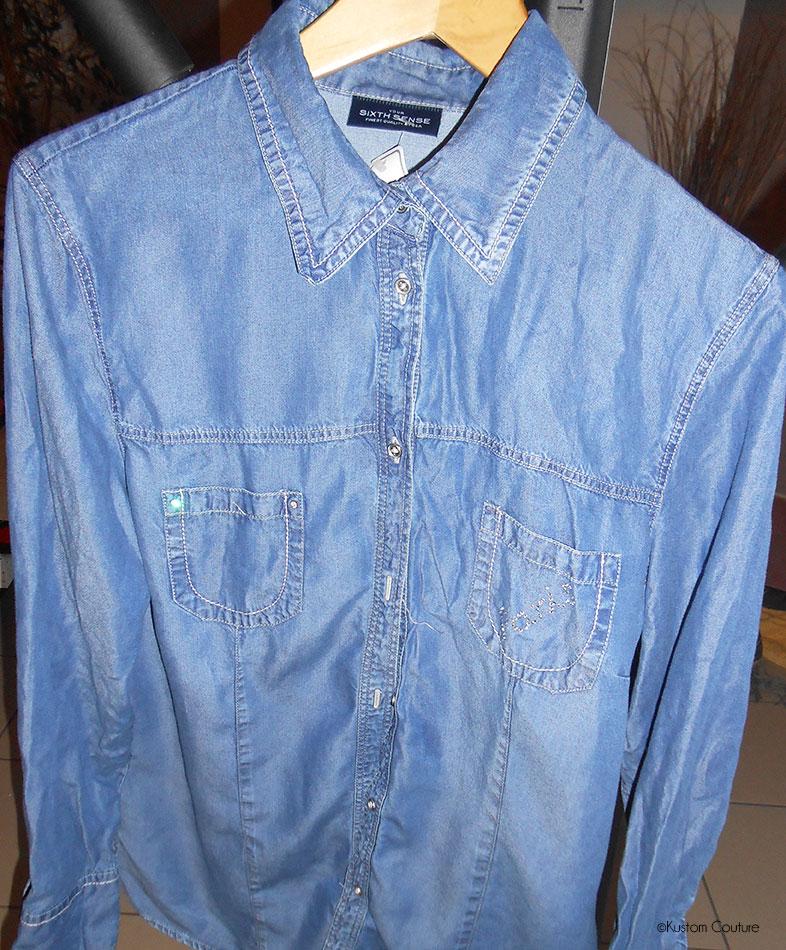 Chemise en jean avant customisation | Kustom Couture
